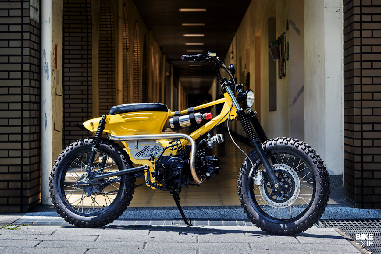 BMX-style motor bike based on the SYM Chin Wang 100