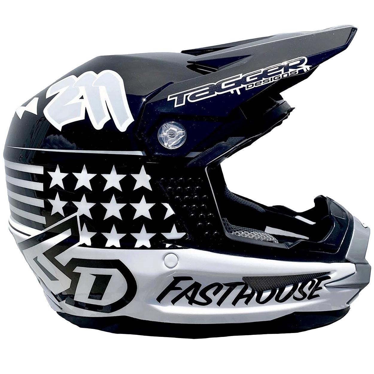 Custom motorcycle helmet by designer Tag Gasparian of Tagger Designs