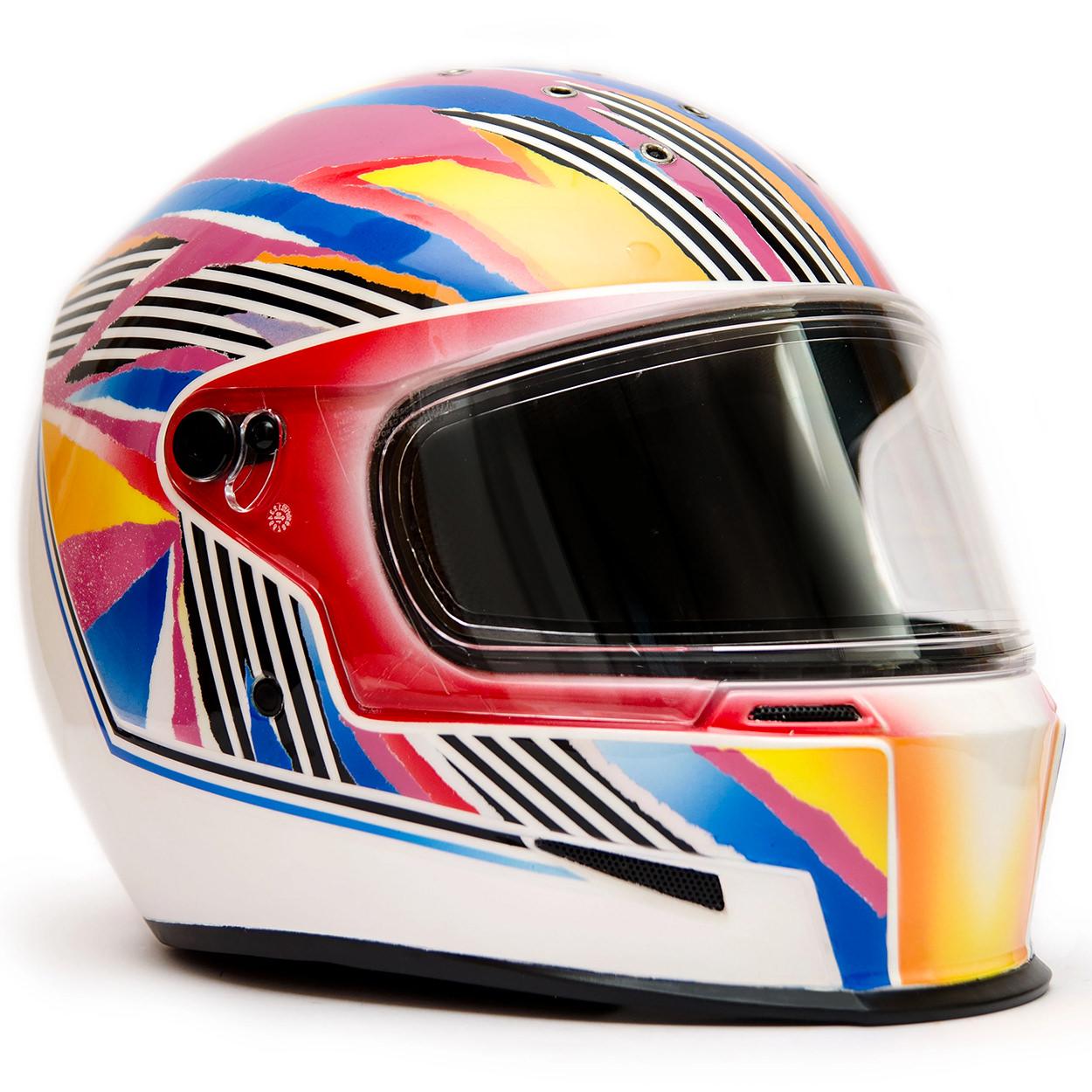 Custom motorcycle helmet by designer Viktoria Grenier, founder of Vaim.me