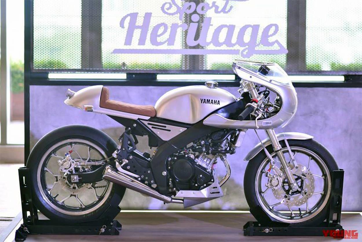 Yamaha XSR155 cafe racer