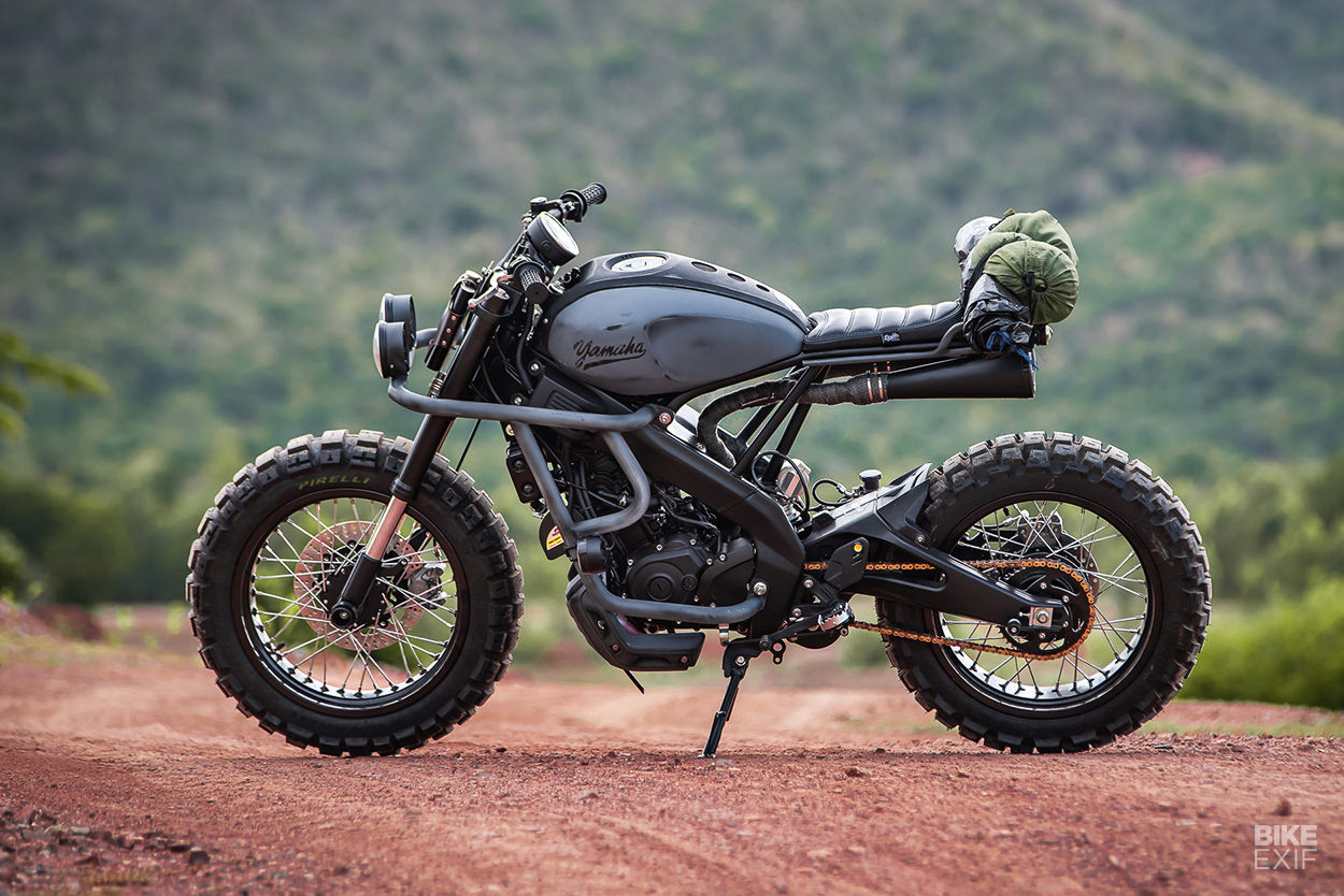 Custom Yamaha XSR155 scrambler by K-Speed