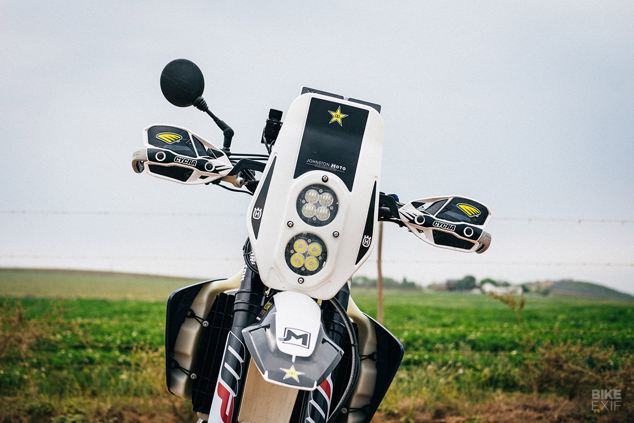 How to turn a Husqvarna FE 501 into a rally motorcycle