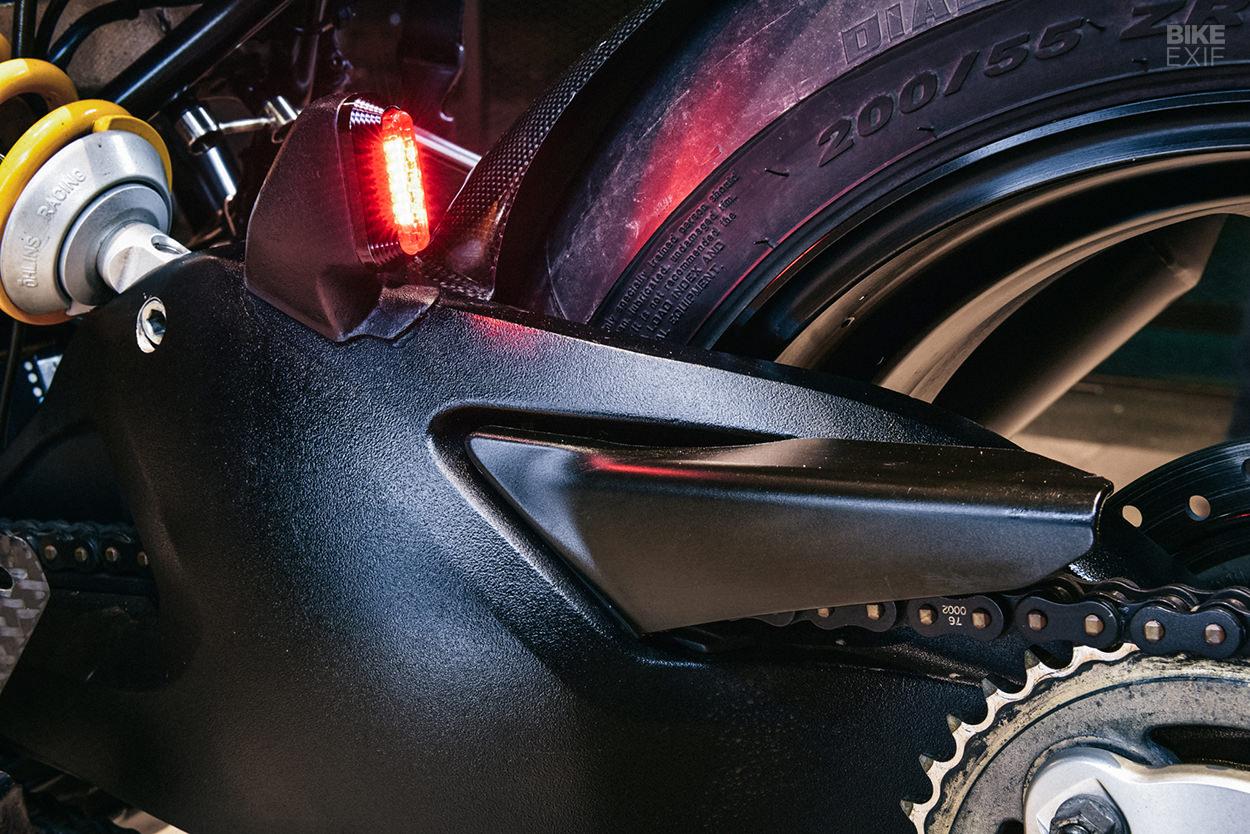 A Scrambler Ducati cafe'd by a pro moto designer