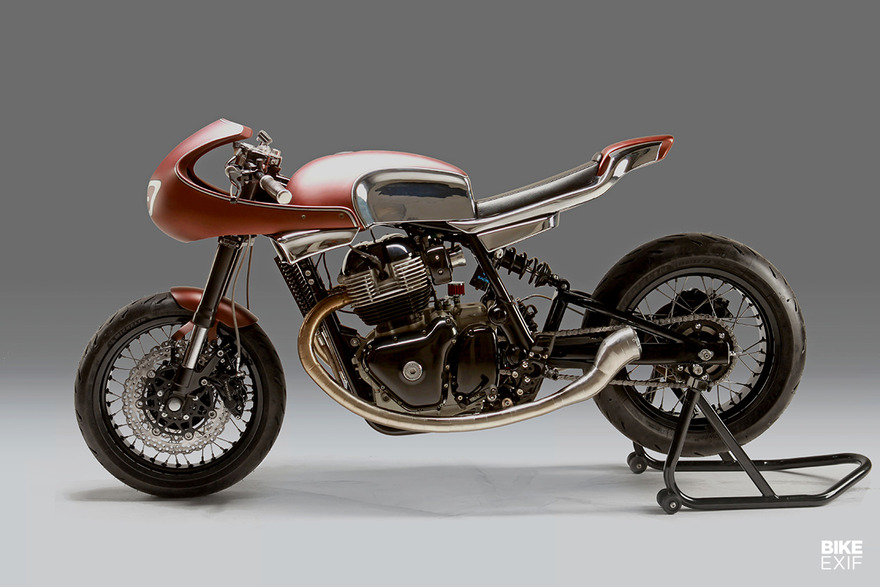 Custom Royal Enfield Continental GT 650 cafe racer by Krom Works