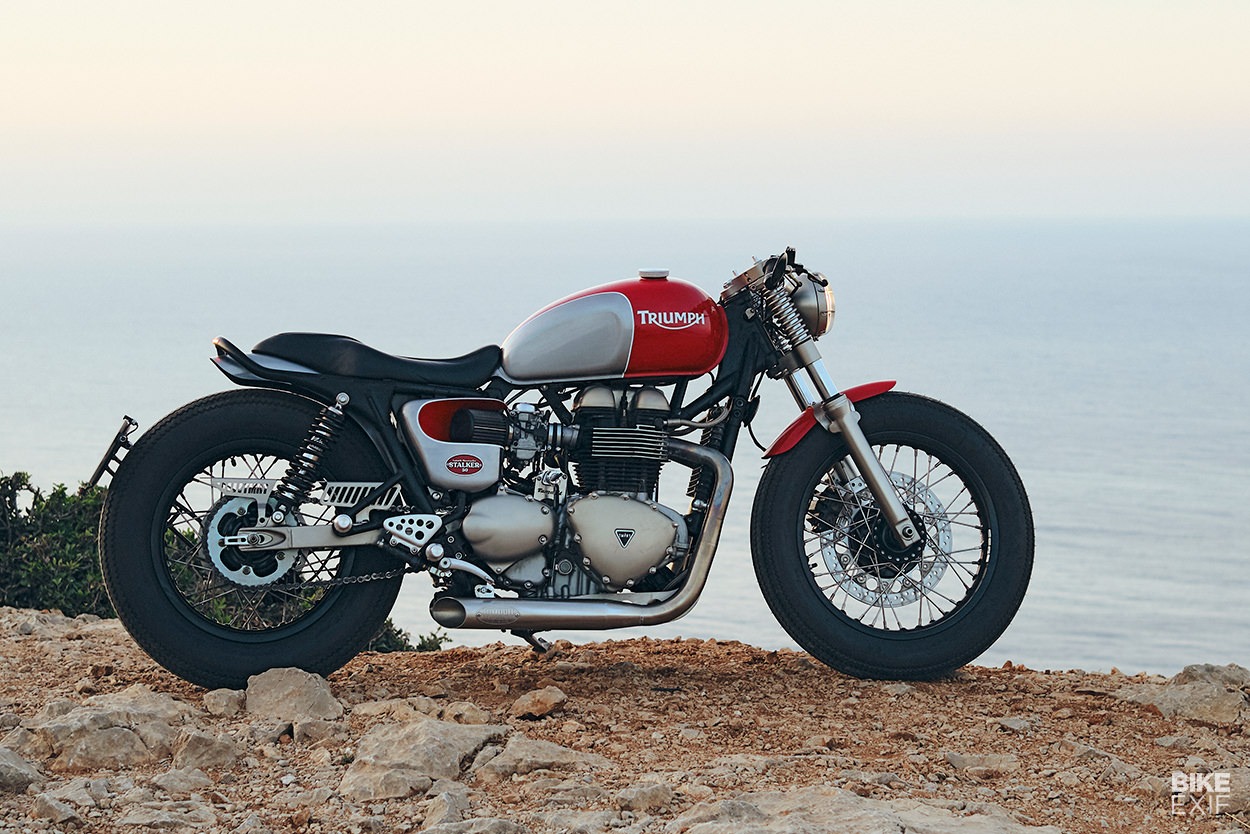 Custom 2006 Triumph Thruxton 900 cafe racer by Tamarit Motorcycles of Spain