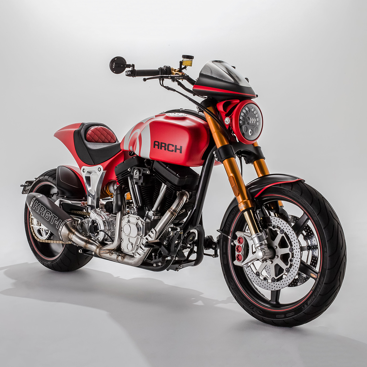The 2020 KRGT-1 motorcycle from Keanu Reeves' company Arch