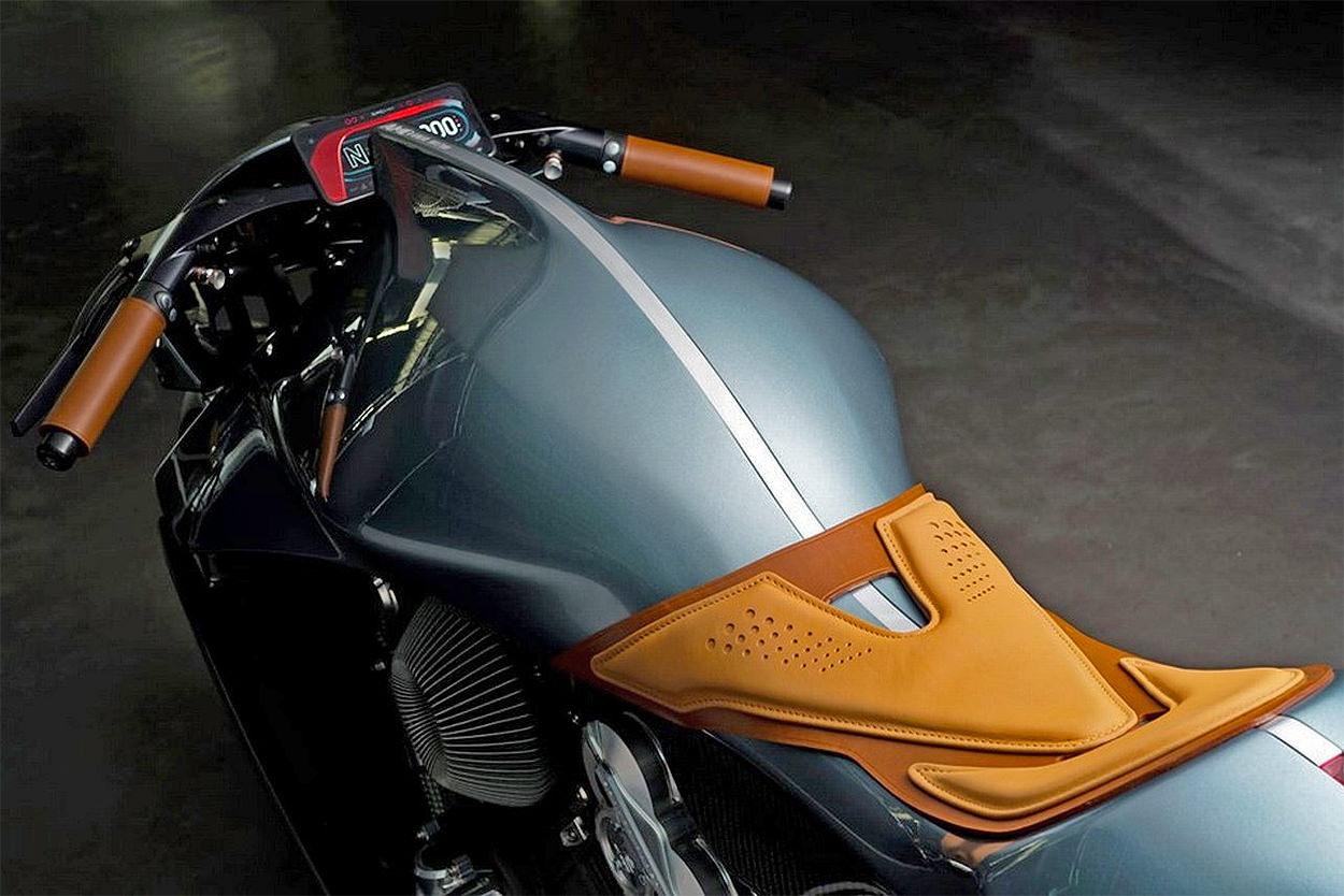 Brough Superior x Aston Martin AMB001 motorcycle