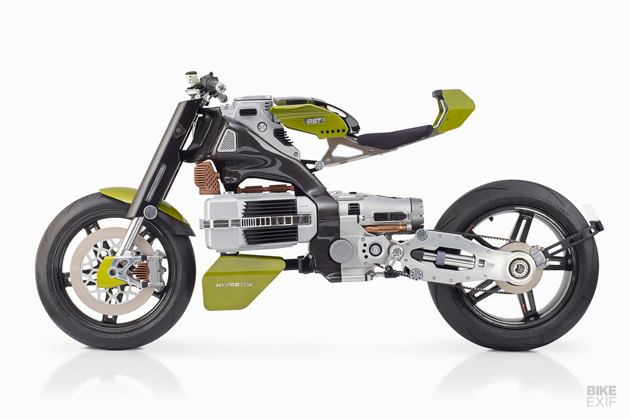 Surprise: carbon fiber wheel maker BST reveals the $80,000 HyperTEK electric motorcycle
