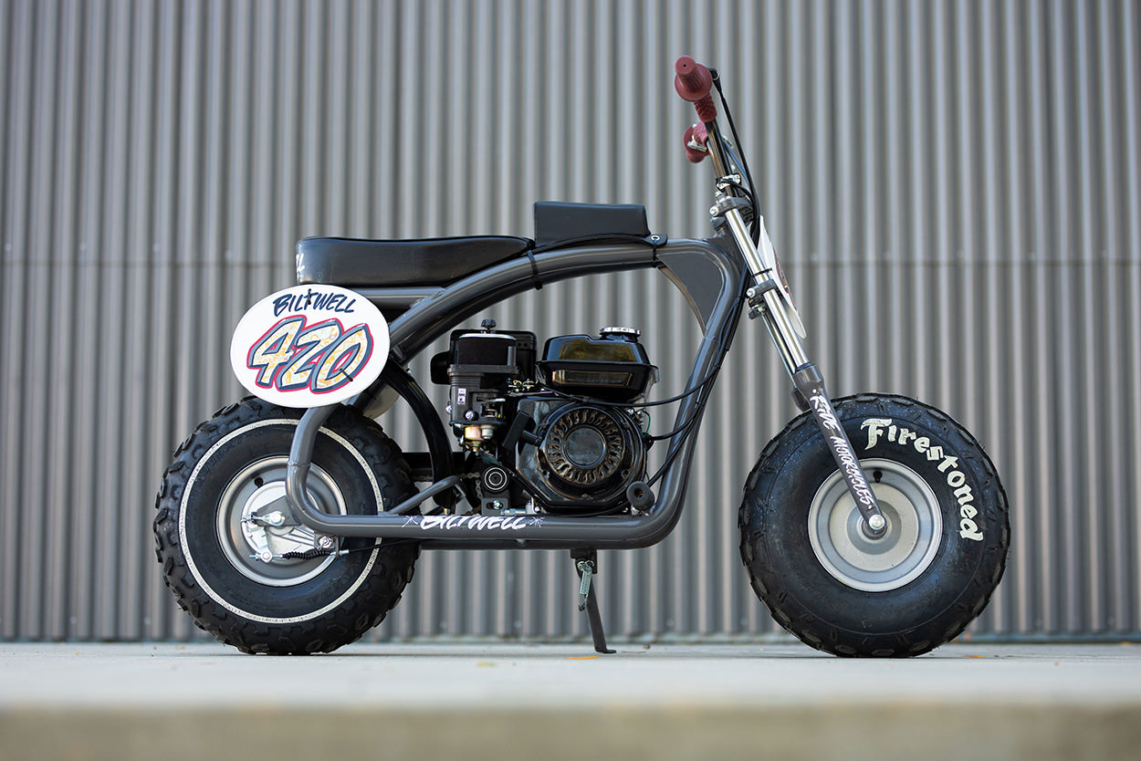 Coleman BT200X mini bike custom by Biltwell Inc