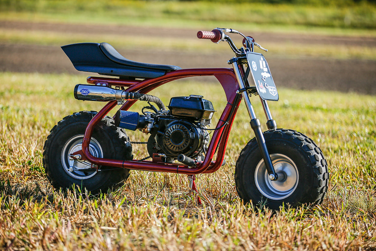 Coleman BT200X mini bike custom by S&S Cycle