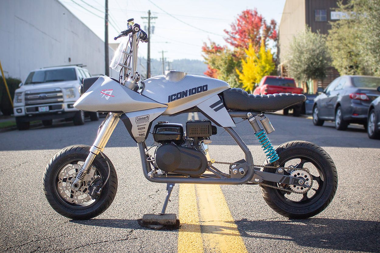Coleman BT200X mini bike custom by ICON Motosports