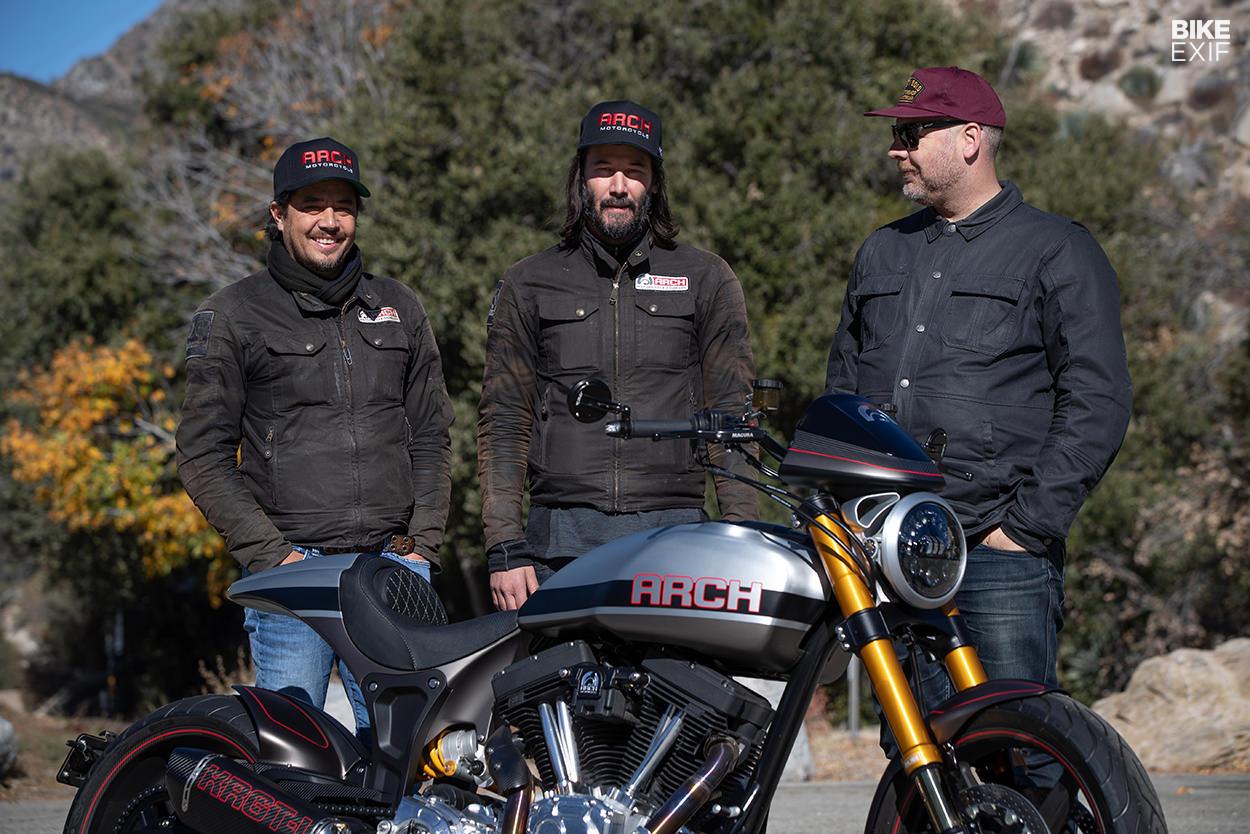 Gard Hollinger, Keanu Reeves and Wes Reyneke of Bike EXIF