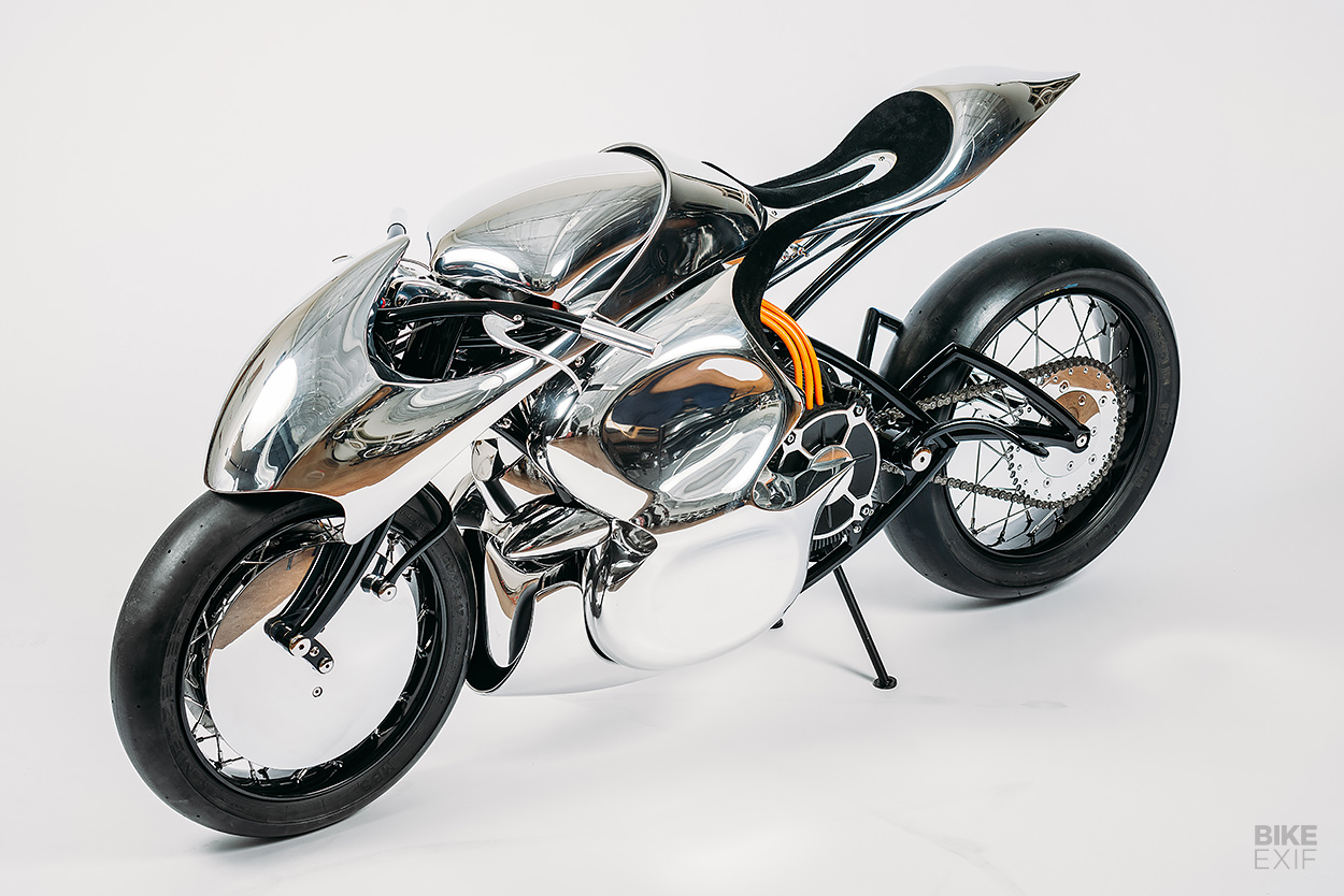 Custom electric motorcycle by Baresteel for the Haas Moto Museum