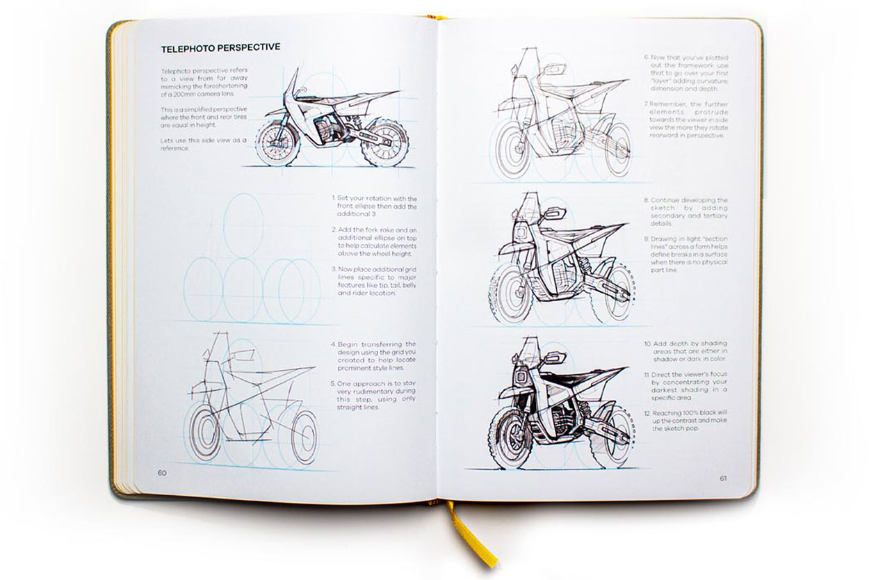 How to draw motorcycles: the I DRAW MOTOS sketchbook