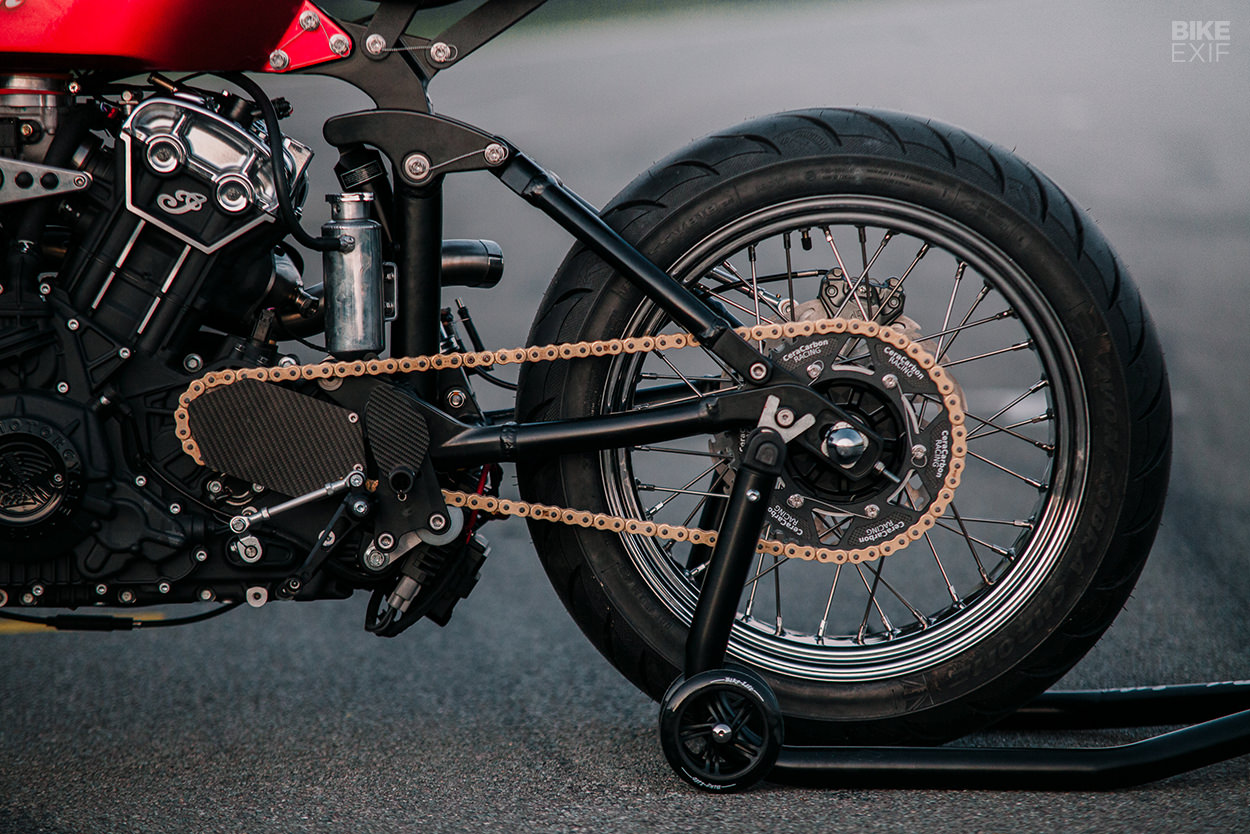 An Indian Scout Bobber from Luuc Muis Creations—called Hasty Flaming Buffalo