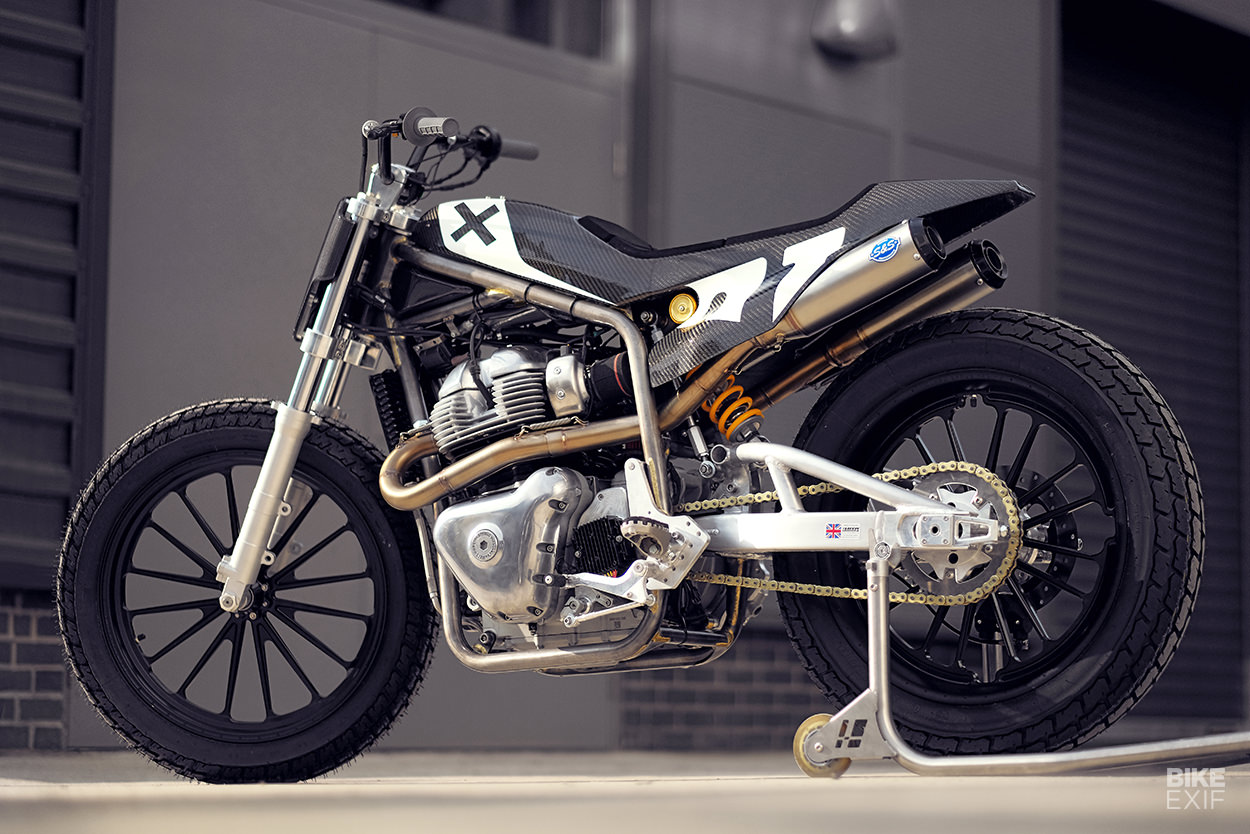A Royal Enfield flat tracker from Harris Performance