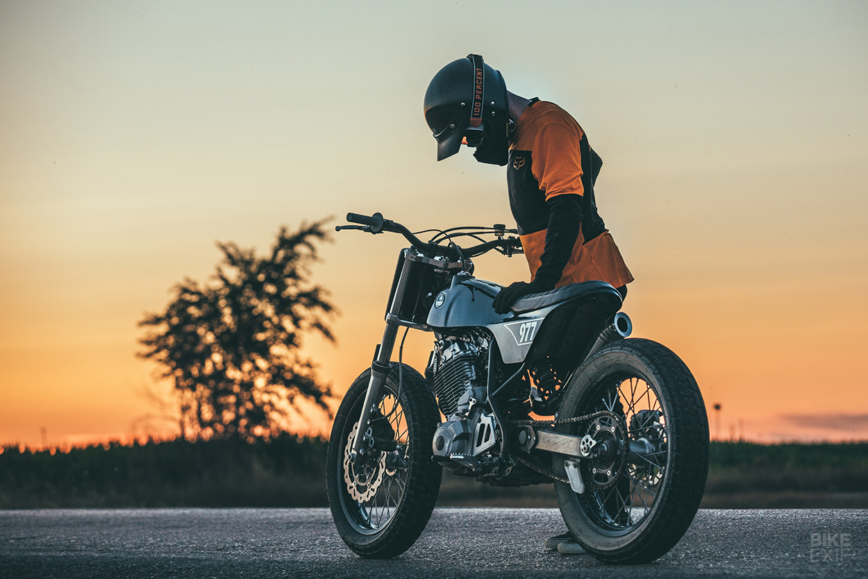 Yamaha XT 600 E tracker with Bultaco bodywork