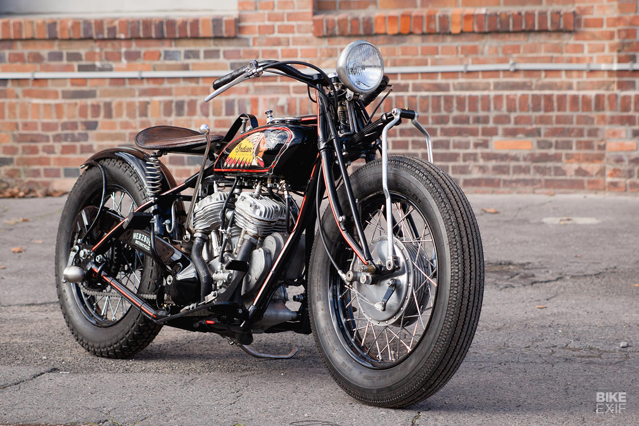 Indian Scout 101 restomod by Herzbube Motorcycles