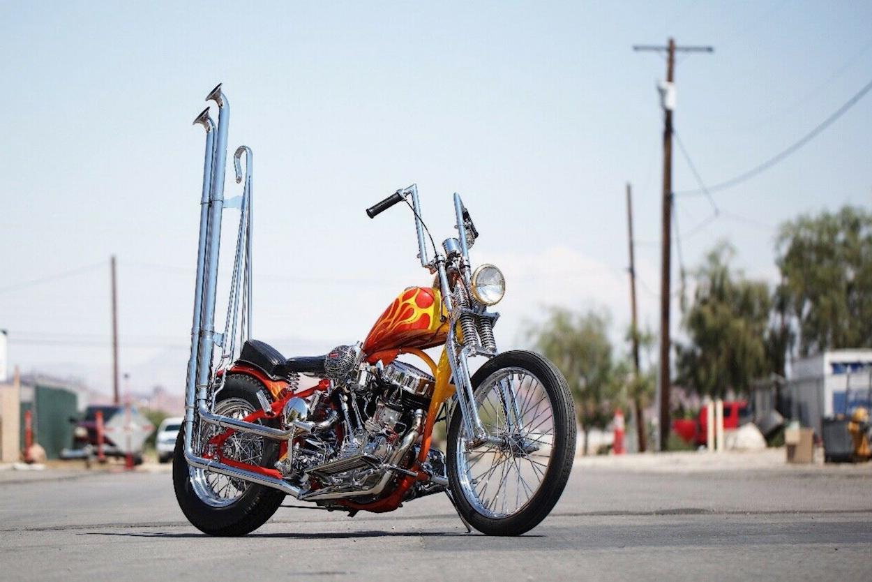 Harley Panhead chopper by Bones Legacy