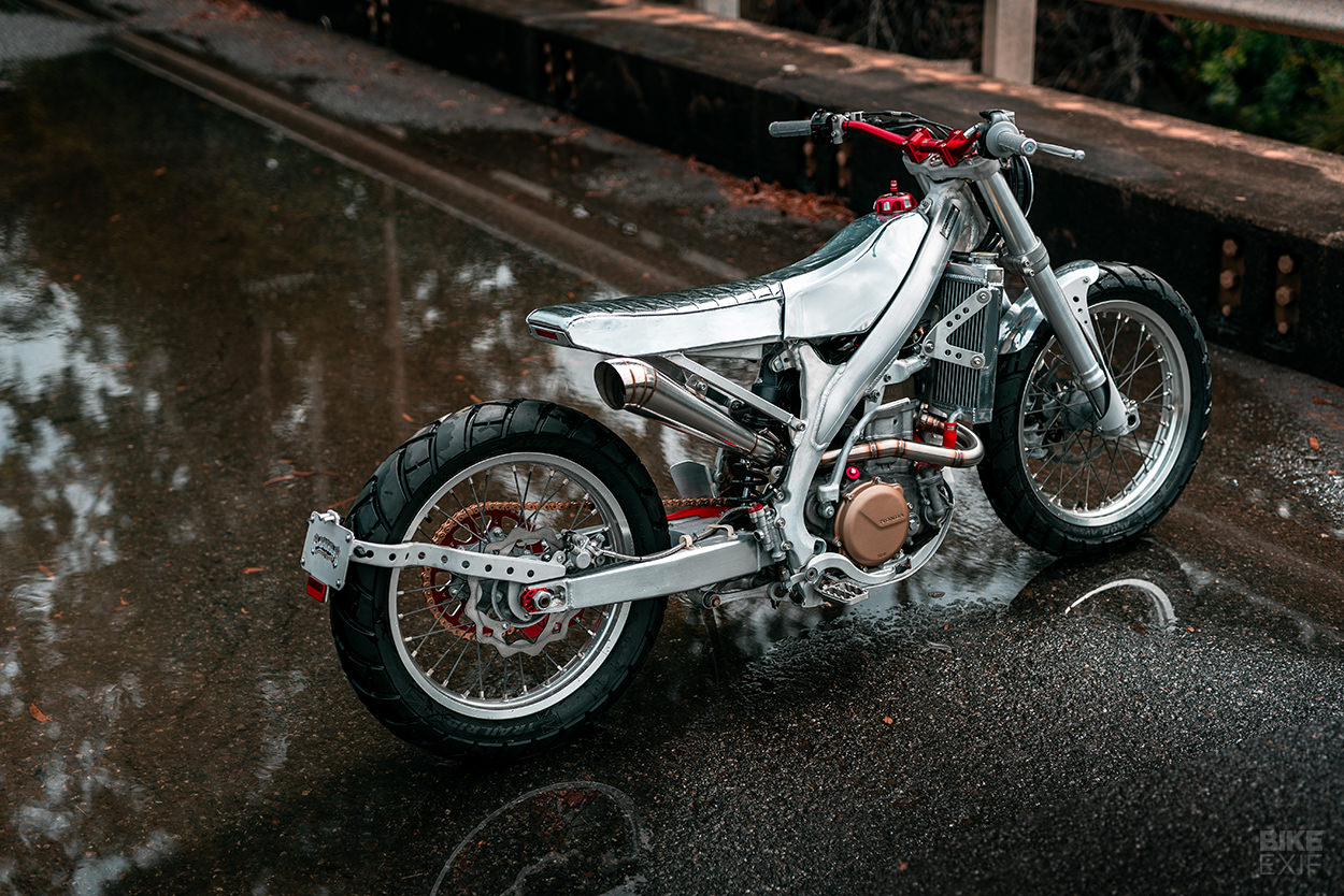 Silver Surfer: A Honda CRF450X street tracker from Black Cycles