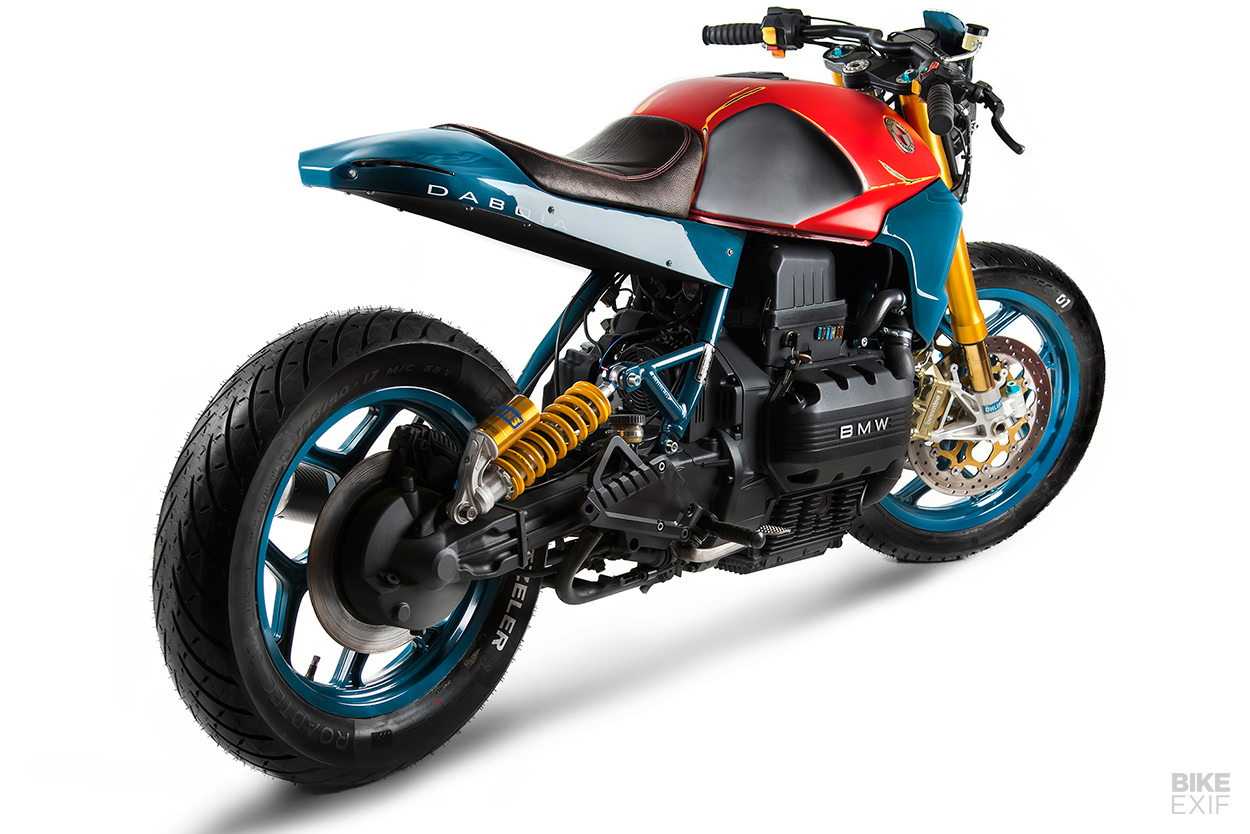 A vivid BMW K75 cafe racer from Matteucci Garage