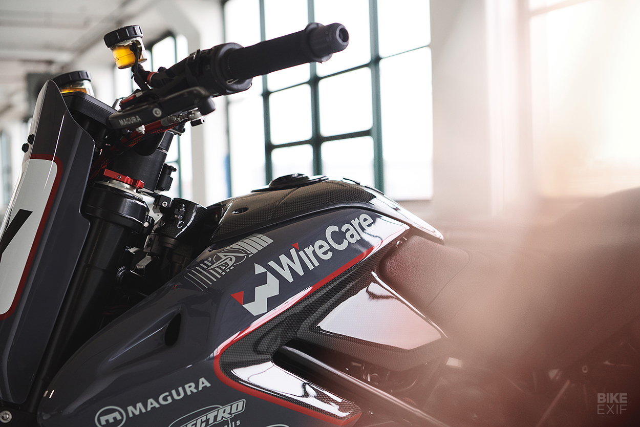 Ducati Hypermotard 796 race bike by Analog Motorcycles