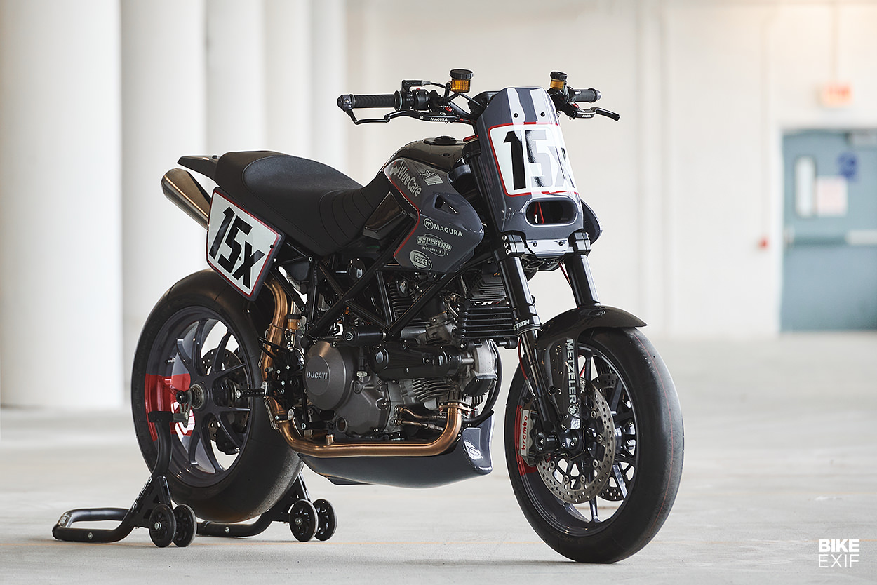 Ducati Hypermotard 796 race bike by Analog Motorcycles
