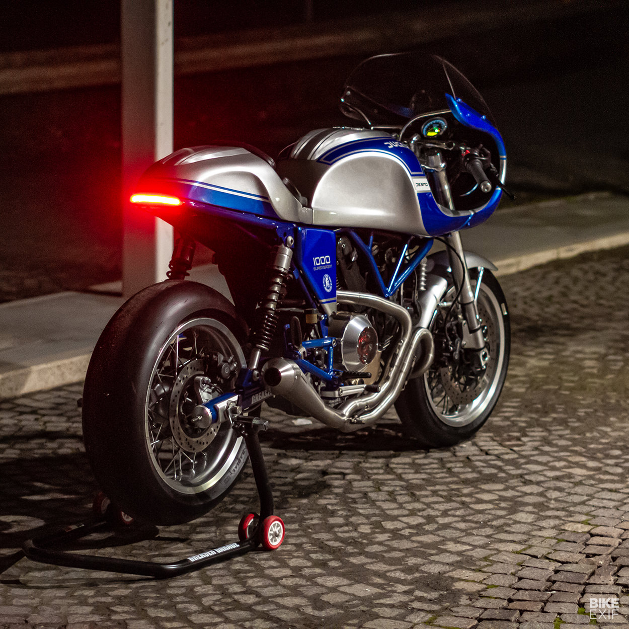 A redesigned Ducati GT1000 from Greaser Garage of Italy