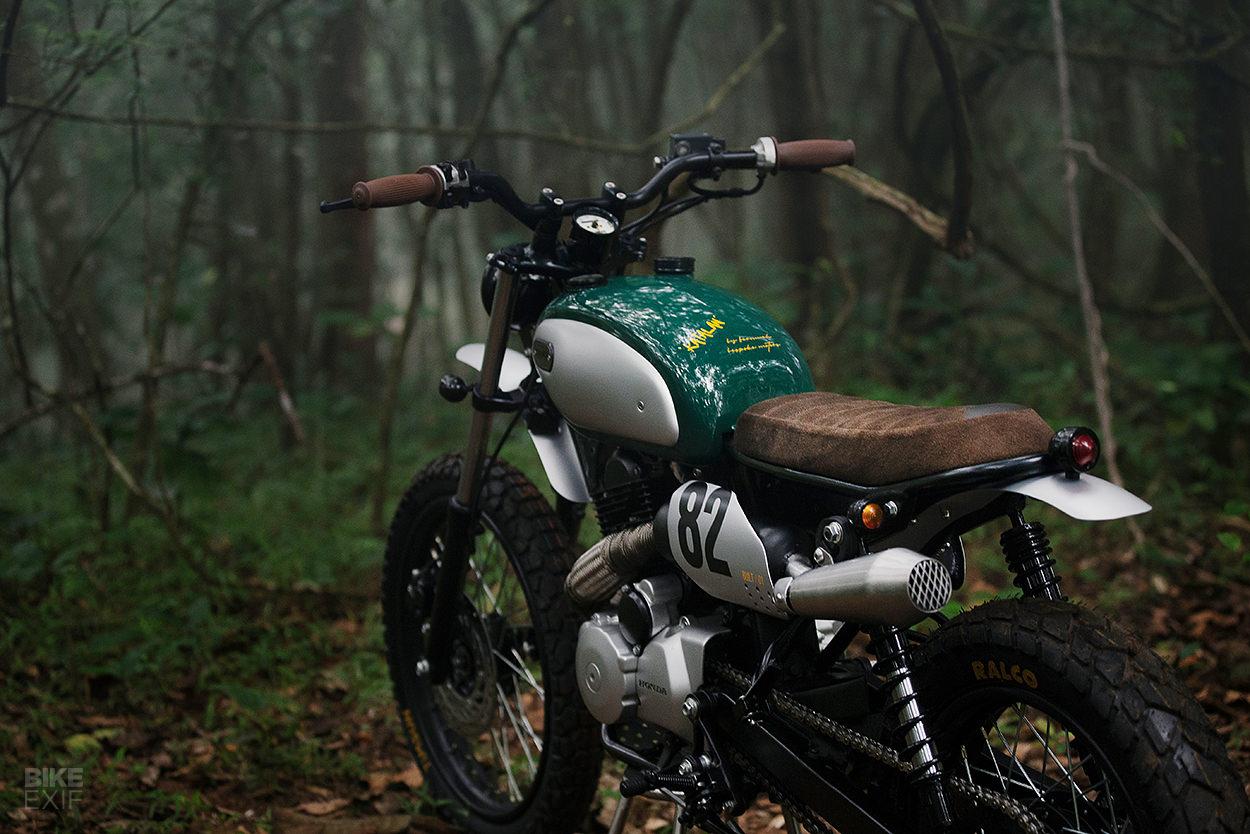 A custom Hero Karizma scrambler from an Indian back yard