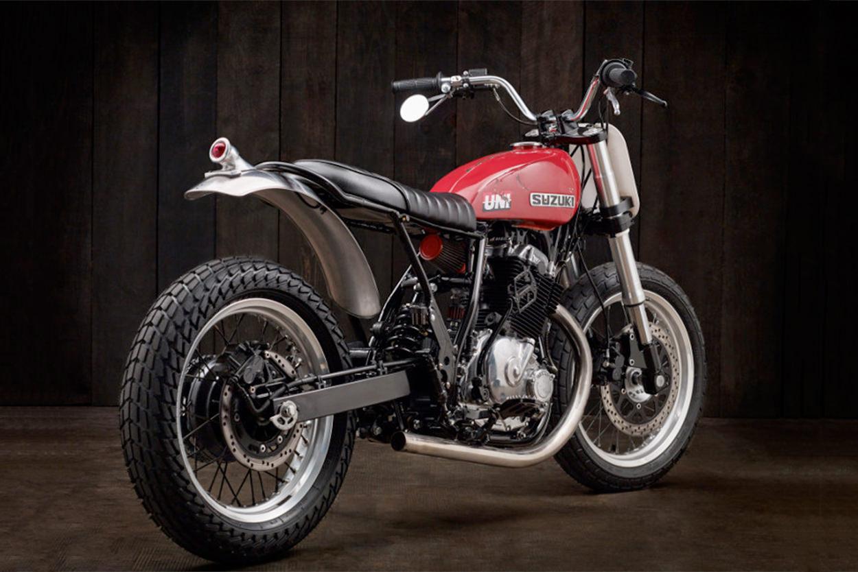 Suzuki DR650 flat tracker by Oilbro Motorcycles