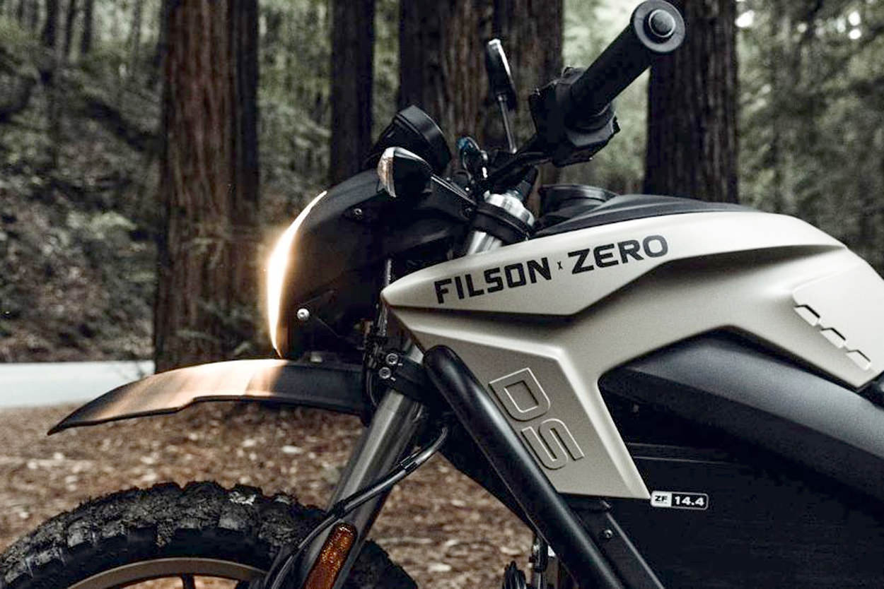 Zero DSR x Filson electric offroad motorcycle