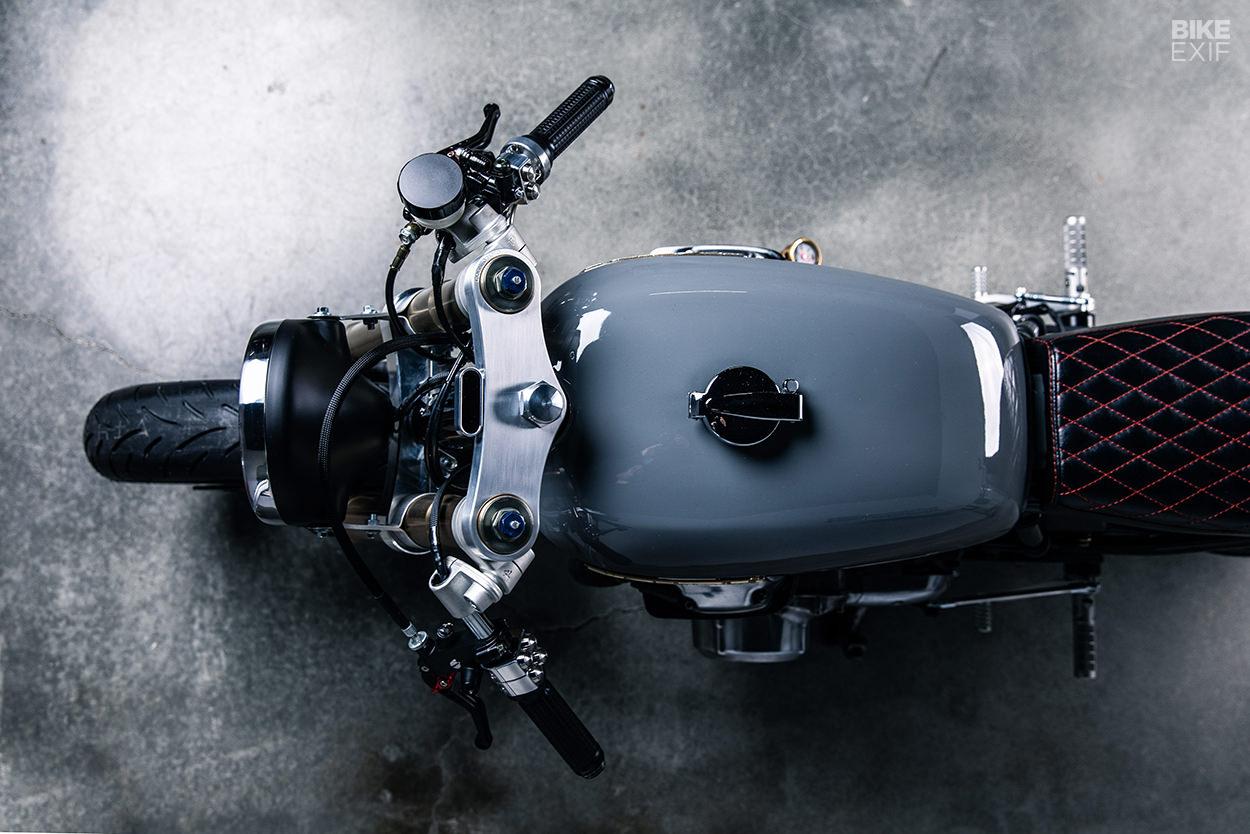Sound decision: A 1975 Honda CB750 cafe racer built by a music producer