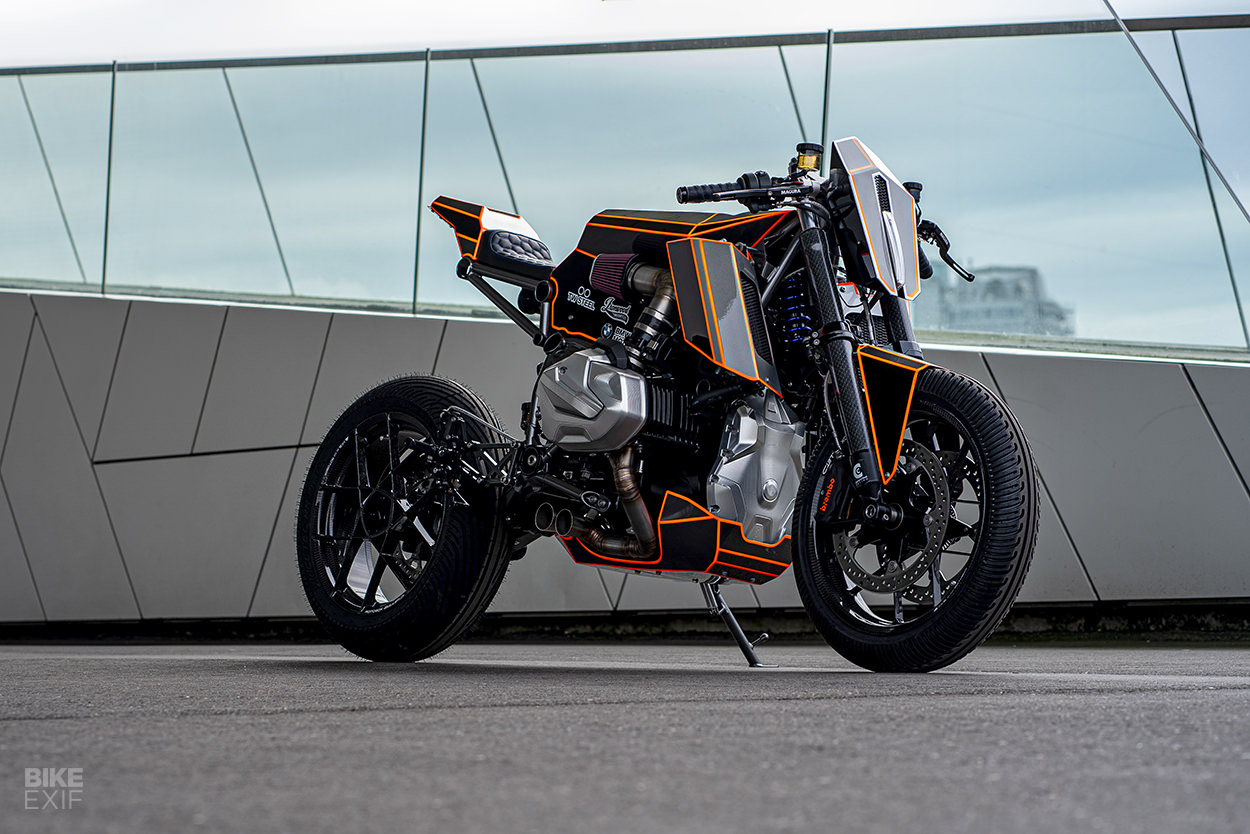 BMW R1250GS modified by Ironwood Custom Motorcycles