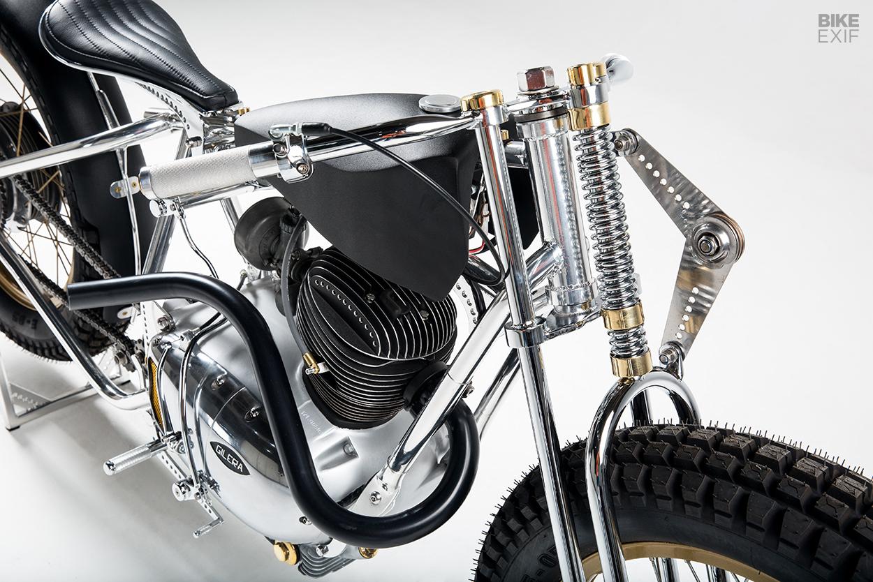 Mechanical Art: A Gilera Extra Rossa 175 custom bobber