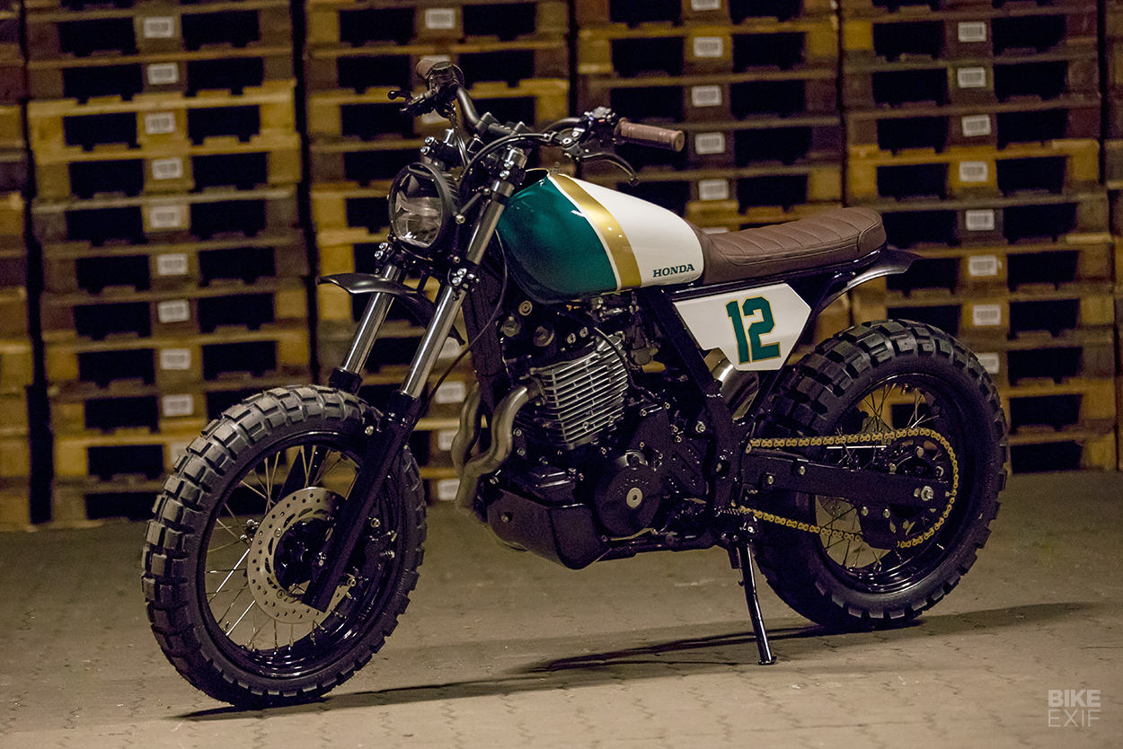 Honda NX650 Dominator street tracker by HB-Custom