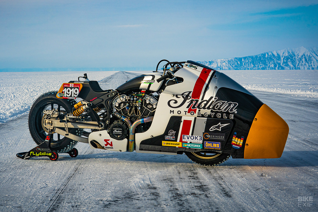 Appaloosa 2.0: An Indian Scout ice racing motorcycle