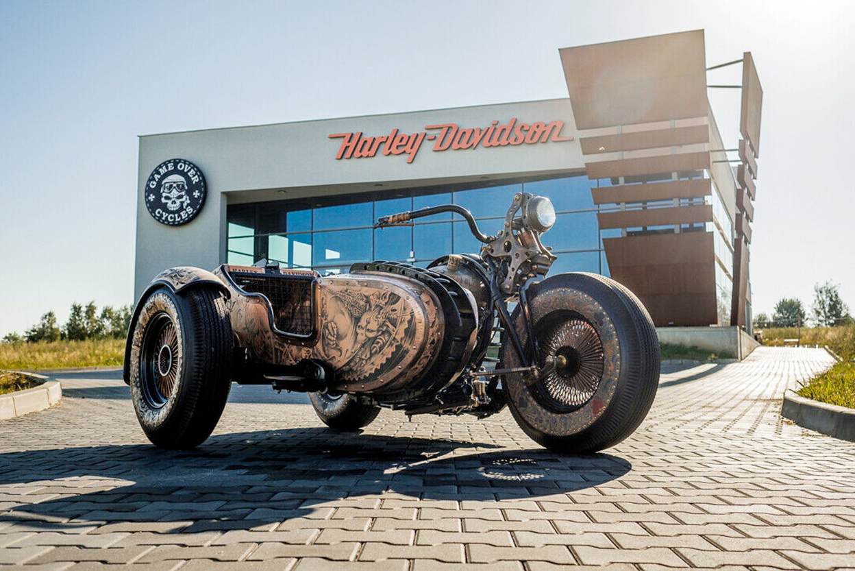 A $1M custom Harley from Game Over Cycles