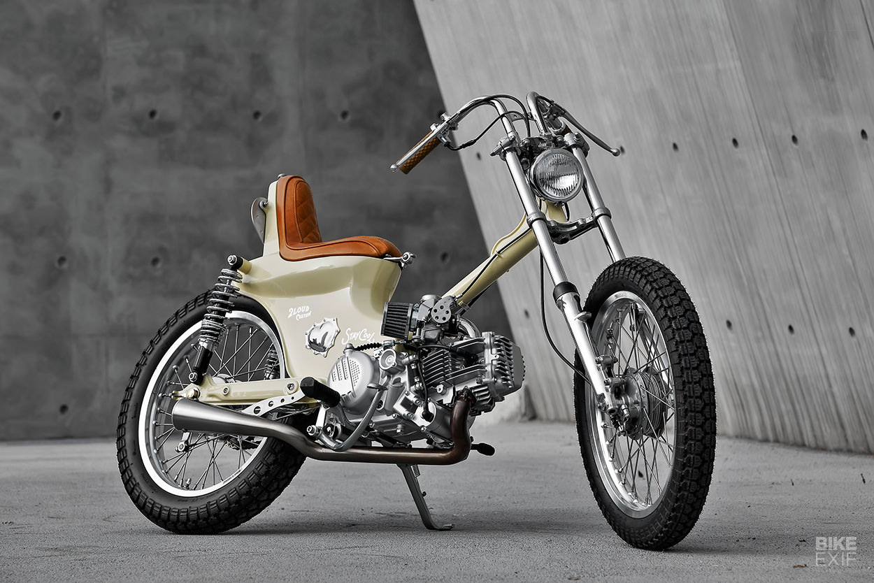 Laid Back: Proof that you can turn a Honda Cub clone into a chopper