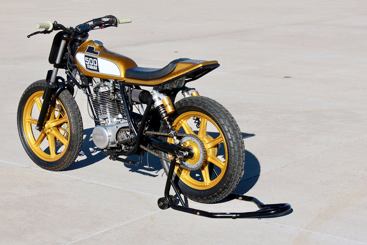 Yamaha SR500 street tracker by Dubstyle Designs
