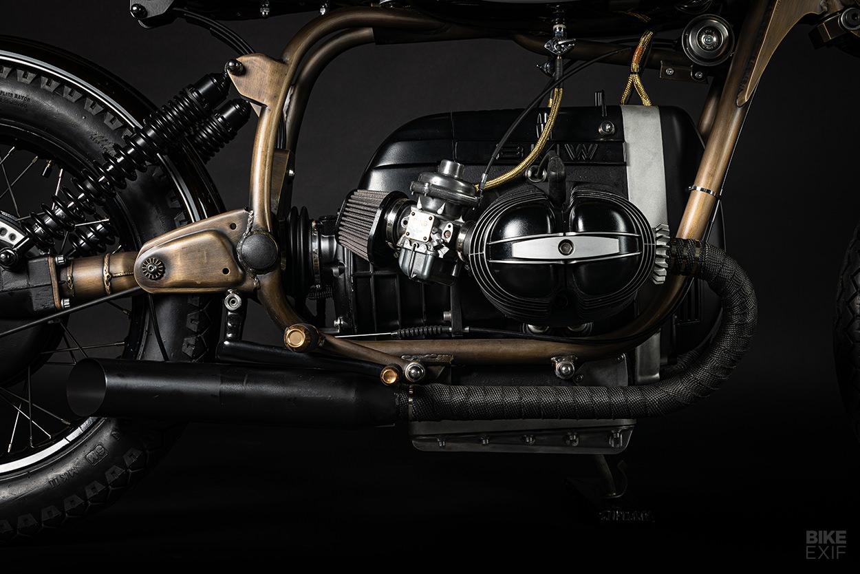 A bold and brassy BMW R75/6 bobber