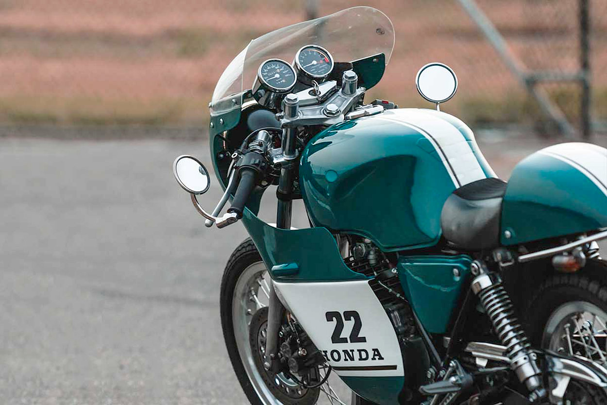 Custom Honda GB400 TT cafe racer