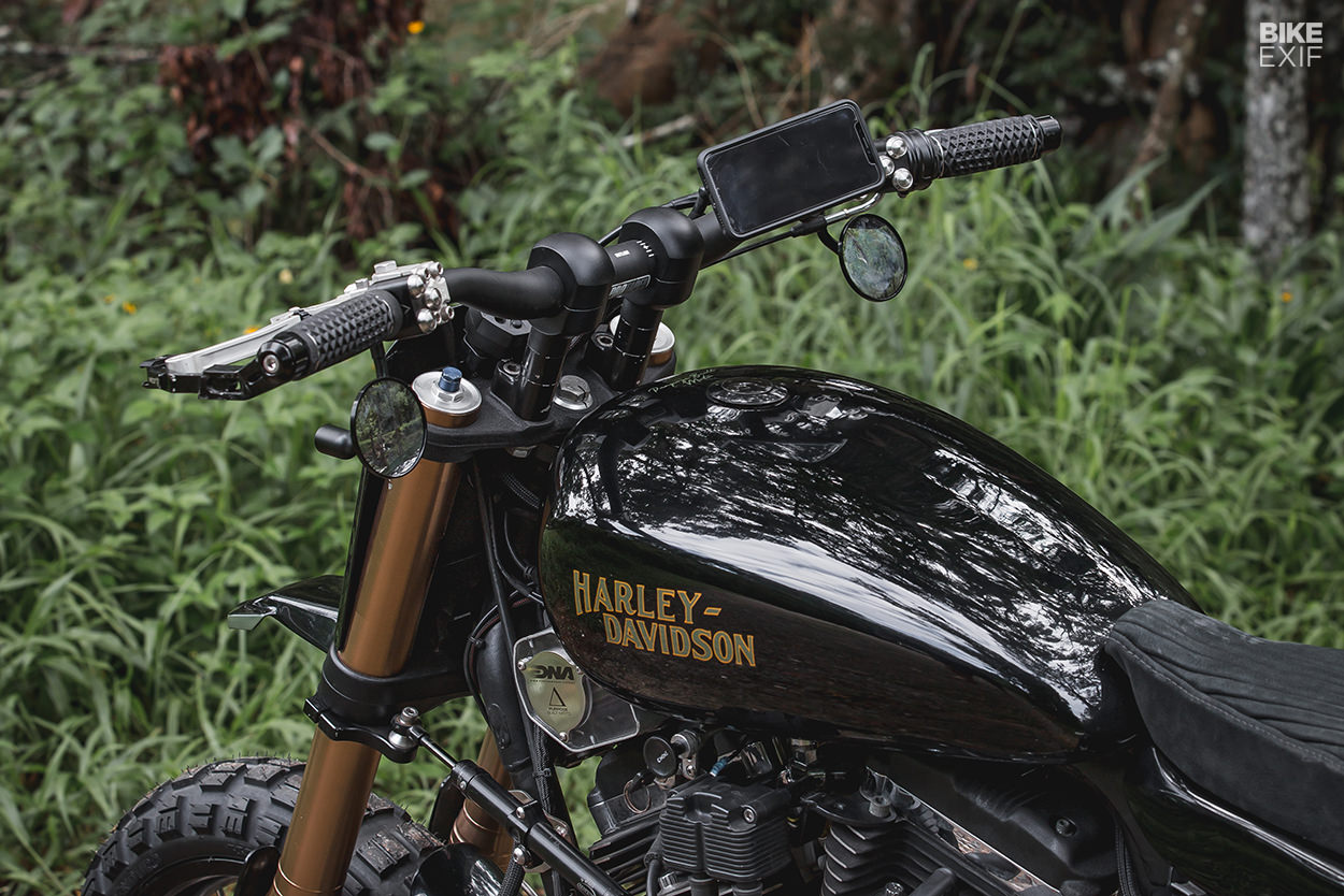 Harley Sportster dual-sport conversion by Purpose Built Moto