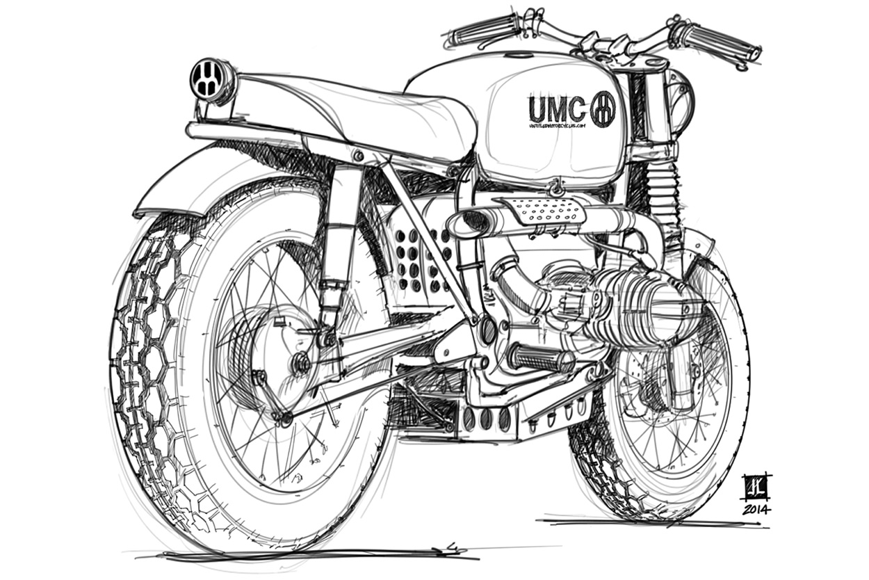 Free motorcycle coloring pages by Untitled Motorcycles and Ian Galvin