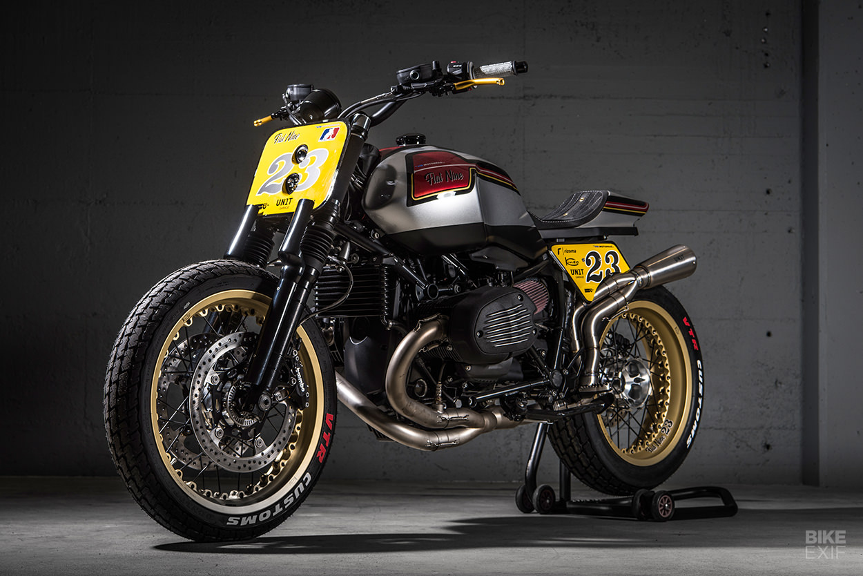A BMW R nineT street tracker motorcycle from VTR Customs