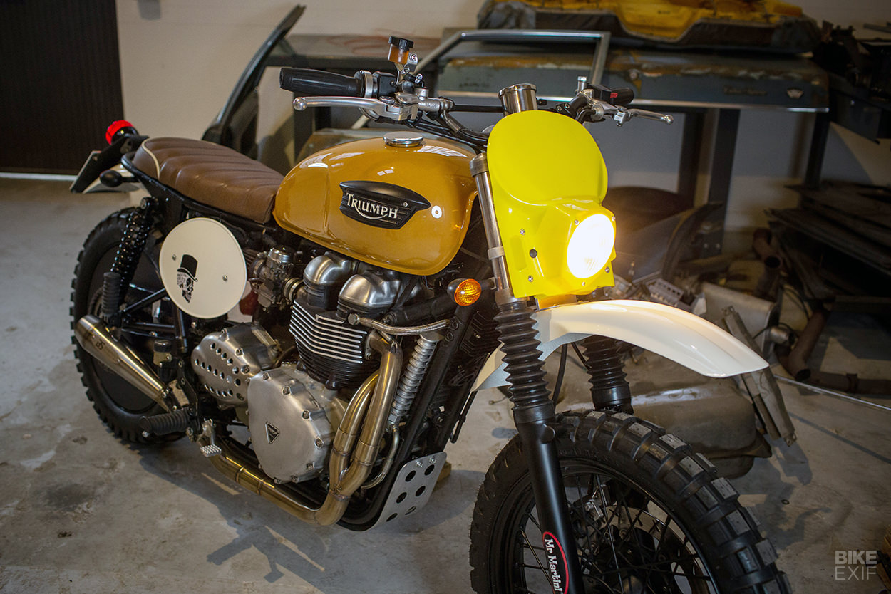 Custom Triumph Scrambler by Mr Martini