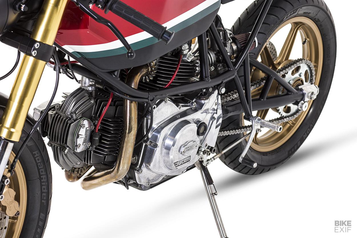 A Ducati 600SL Pantah customized for a car designer