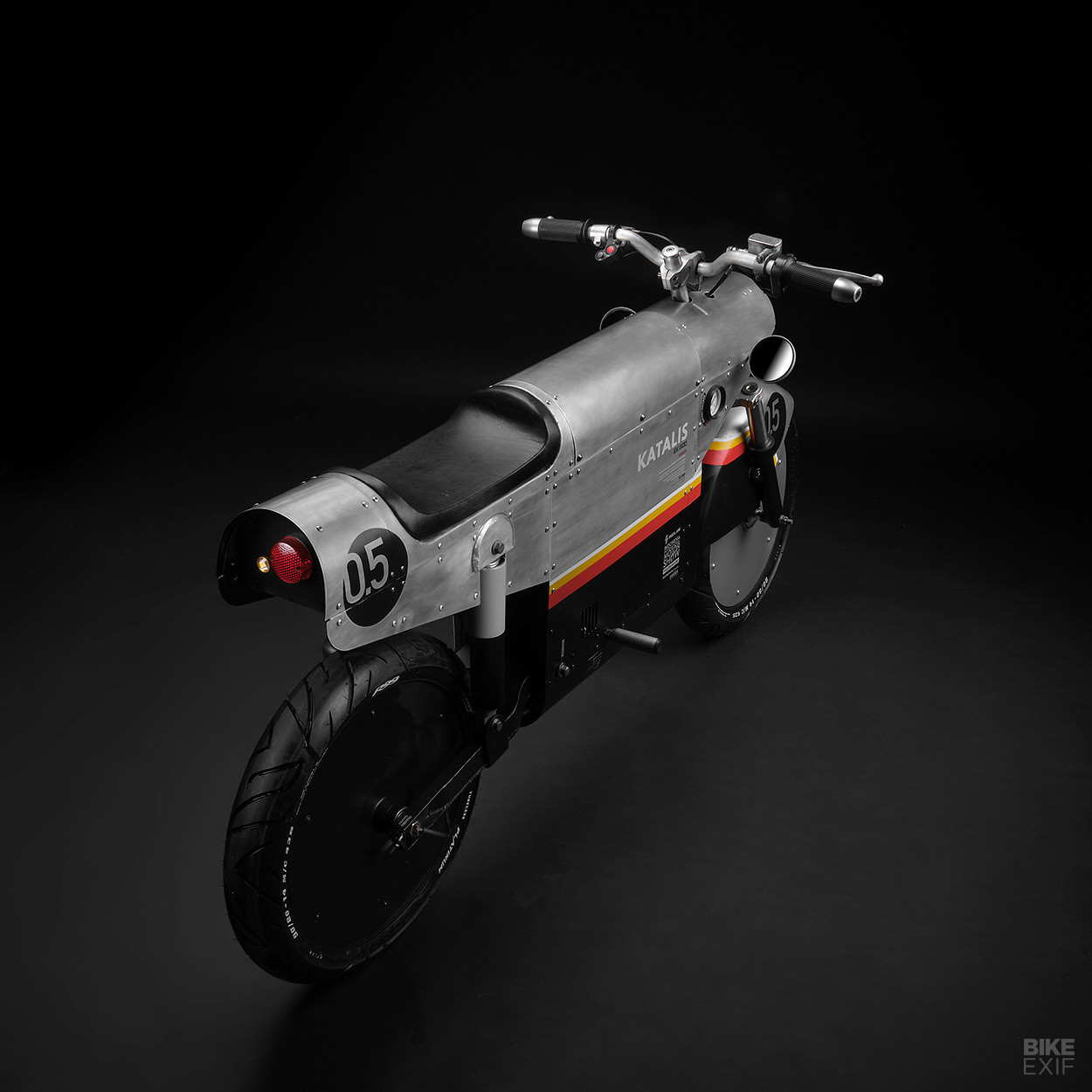 The Katalis EV.500, an electric motorcycle concept based on the Selis Garuda