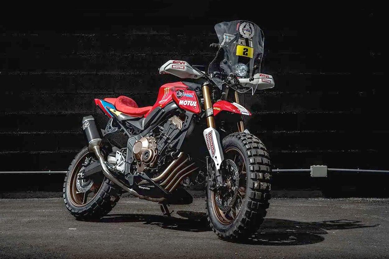 Custom Honda CB650R scrambler