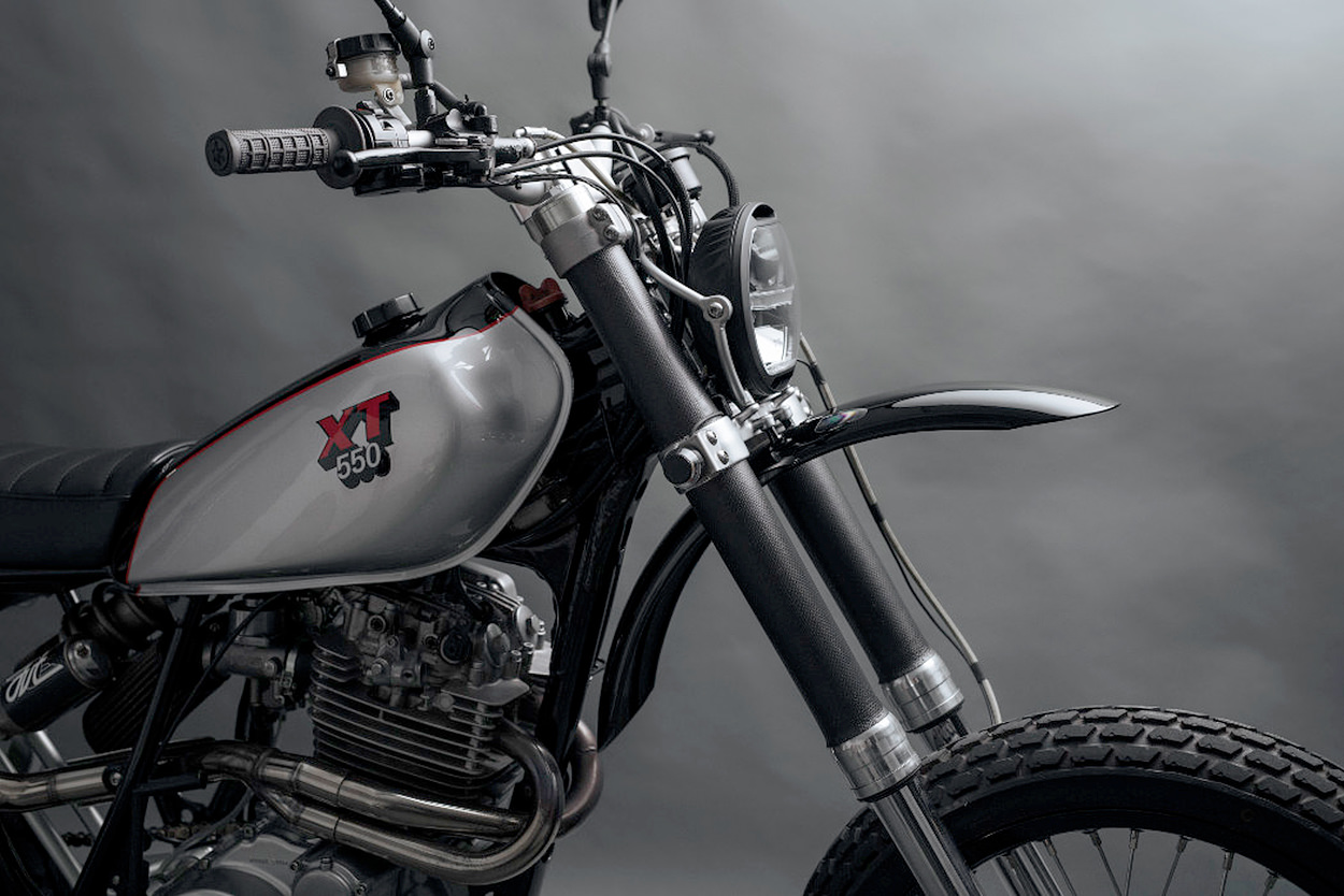 Custom Yamaha XT550 scrambler
