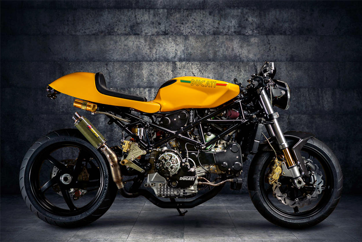Custom Ducati ST4S cafe racer by Moto Motivo